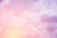 Soft cloudy sky with pastel gradient color Stock Photo
