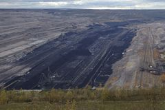 Soft coal open cast mining Hambach (Germany) Royalty Free Stock Photos