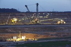Soft coal open cast mining Hambach (Germany) - Rotary excavator Stock Images