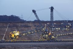 Soft coal open cast mining Hambach (Germany) - Rotary excavator Stock Photography