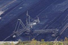 Soft coal open cast mining Hambach (Germany) - Rotary excavator Royalty Free Stock Photo