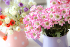 Soft color artificial flowers. For background Stock Image