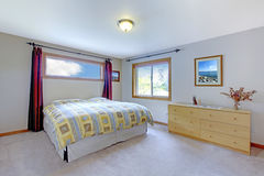 Soft color bedroom interior Royalty Free Stock Image