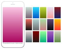 Soft color gradient backgrounds set. Modern screens for mobile app. Abstract colorful vector gradients for greeting card, brochure, flyer, invitation card Royalty Free Stock Photo