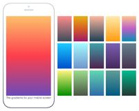 Soft color gradient backgrounds set. Modern screens for mobile app. Abstract colorful vector gradients for card, brochure, flyer. Soft color gradient backgrounds Royalty Free Stock Photo
