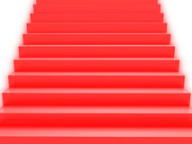 Soft color red stairs Stock Photos