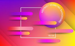 Abstract red, orange and ultraviolet background. Vector. Vibrant gradients and dynamic geometric shapes. vector illustration