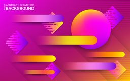 Abstract ultraviolet background. Vector. Vibrant gradients and dynamic geometric shapes. royalty free illustration