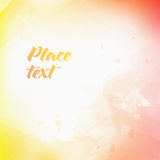 Soft colored abstract background for design. Watercolor texture effect. Royalty Free Stock Images