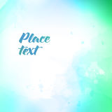 Soft colored abstract background for design. Watercolor texture effect. Stock Image