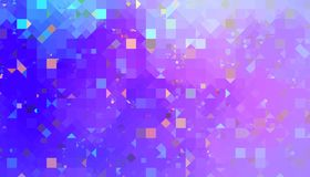 Soft colored abstract background. Soft colored geometric abstract background with chaotic rotated triangles and cubes. 2d illustration Royalty Free Stock Photo