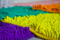 Soft colored carpets with high pile Royalty Free Stock Image