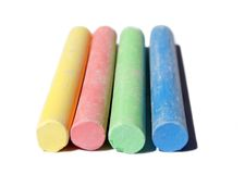 Soft colored chalks Royalty Free Stock Image
