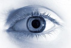 Soft colored eye. Computer modified image to add more softness Stock Photos