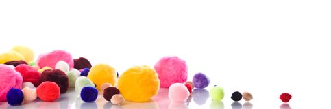 Soft colorful balls Stock Images