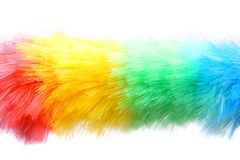 Soft colorful duster close-up Royalty Free Stock Image