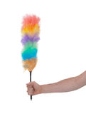 Soft colorful duster with plastic handle Stock Photography