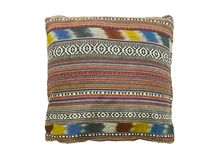 Soft colorful stripes pillow Royalty Free Stock Images