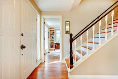 Soft colors hallway with stairs Stock Image
