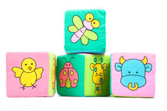 Soft Colourful Learning Blocks with animals Stock Photos