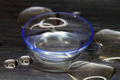 A soft contact lens lies Royalty Free Stock Photo