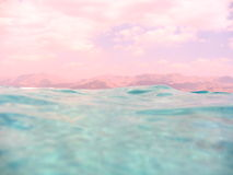 Soft contrast. Pink and blue hot and cool.long exposure,underwater white balanced Royalty Free Stock Photo