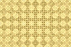 Soft Cream Cappuccino Ornamental Wallpaper royalty free illustration