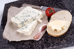 Soft and creamy blue french cheese Stock Images