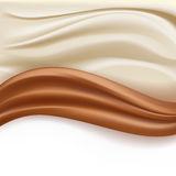 Soft creamy milky waves. Soft creamy milky and chocolate abstract waves over white background. vector illustration vector illustration