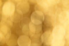Soft creamy yellow bokeh background. Smooth circles texture.  Stock Photos
