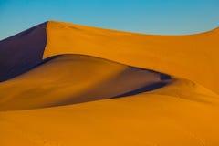 The soft curves of orange sand dunes Stock Photography