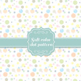 Soft cute and sweet colors dot circle pattern style Royalty Free Stock Image