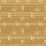 Soft dandelion seed pattern. Royalty Free Stock Photos
