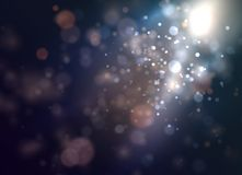 Soft dark bokeh background with smooth light. stock illustration