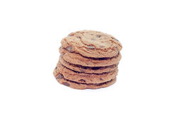 Soft dark chocolate brownie cookies Royalty Free Stock Images