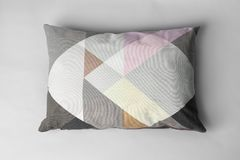 Soft decorative pillow. On light background stock photo