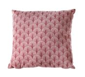 Soft decorative pillow. On white background stock photo