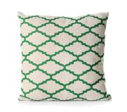 Soft decorative pillow. On white background royalty free stock photo