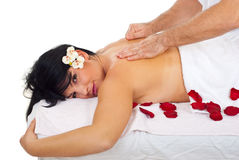Soft and deep massage royalty free stock image