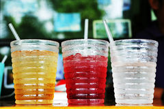 Soft drink. Thai style soft drink made from fruits royalty free stock photography