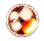 Soft drink. A soft drink with lemon and ice royalty free stock photography