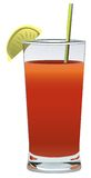 Soft drink. This is a soft dring coctail illustration drawn in vector Royalty Free Stock Images