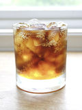 Soft Drink. (cola) with ice royalty free stock photo