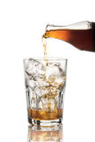 Soft drink being poured into glass Royalty Free Stock Photography