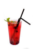 Soft drink with berries Royalty Free Stock Photography