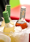 Soft Drink Bottles In Ice Bucket. Stock Photography