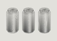 Soft drink can. Vector Illustration of soft drink can Stock Photos