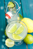 Soft drink, citrus fruits Stock Photography