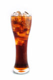 Soft drink of Cola. Soft drink Glass of Cola with ice stock photo