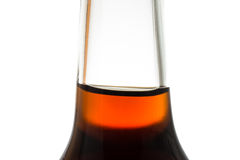 Soft drink cola in a glass bottle. As close up Royalty Free Stock Photography
